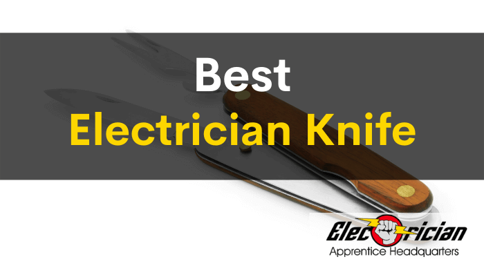 best electrician knife